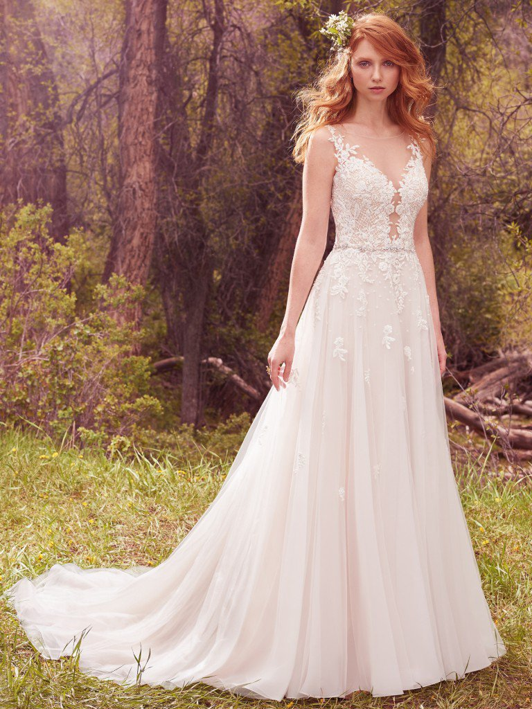 Top 20 bohemian wedding dress designers one boho street for Maggie sottero mckenzie wedding dress