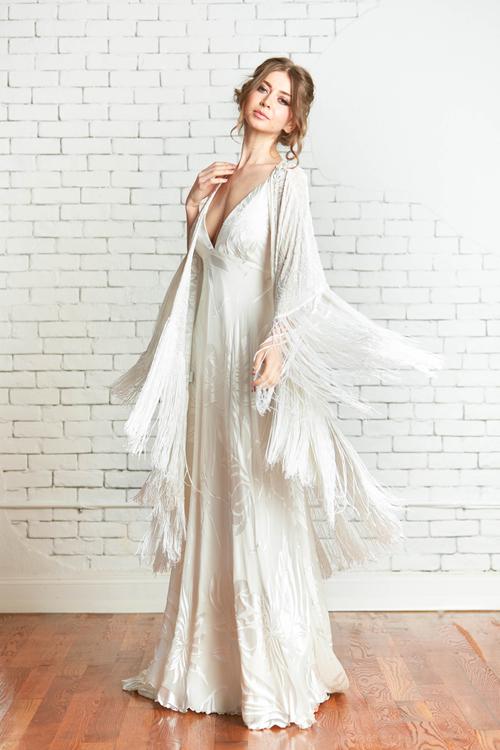 bohemian style wedding dress | One Boho Street