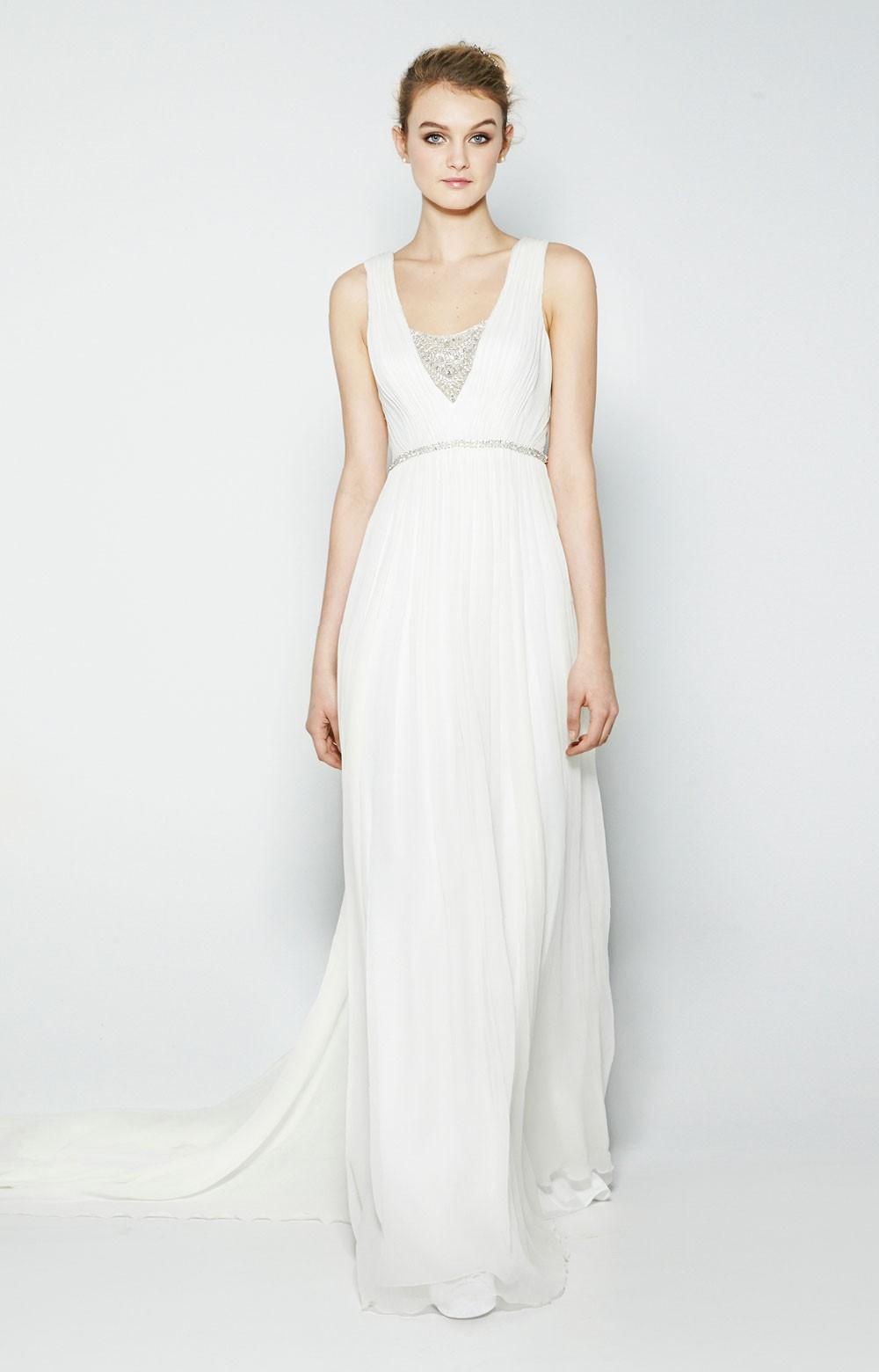8a1bd694c9 Millie Crinkle Silk Chiffon Bridal Gown by Nicole Miller